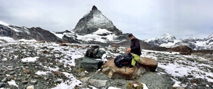 Lunch break with a view of Matterhorn