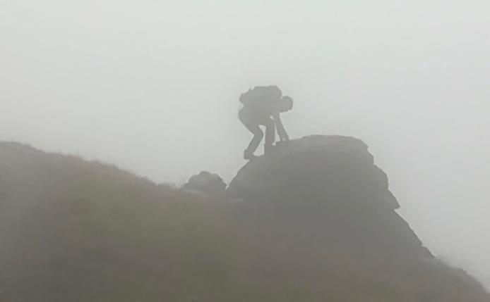 Yasuko in the fog...