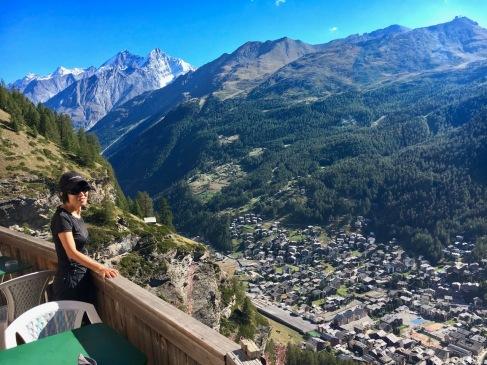 A view of the Zermatt village from Edelweis