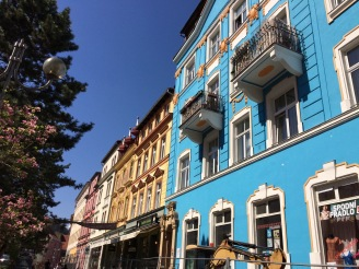 Decin with colorful houses
