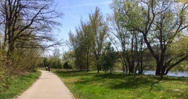Breezy bike path