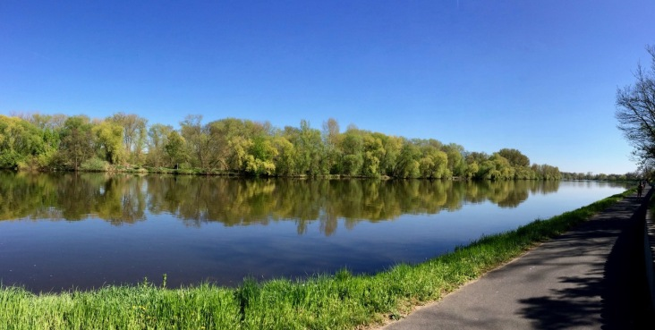Mirror-like river