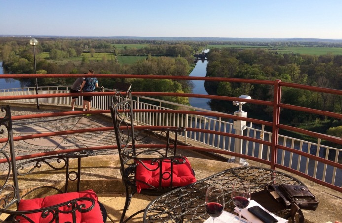 Wine at Melnik with a view