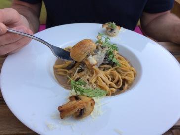 Percy's mushroom pasta