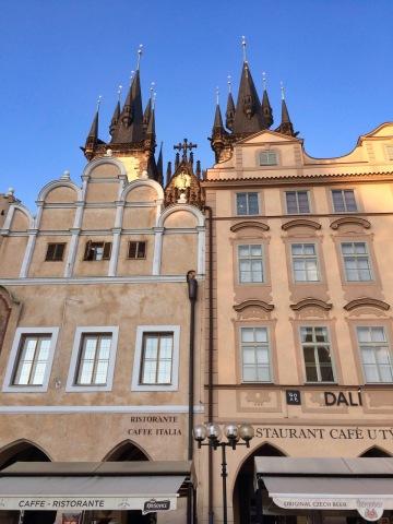 A beautiful city square in Prague