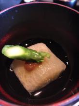 Radish, asparagus with a dash of miso...