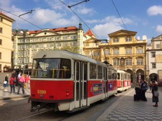 Cute old-fashioned trams