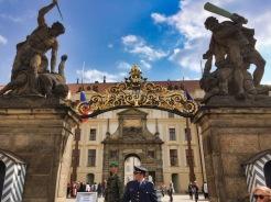 Prague Palace entrance