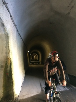 Bike and service tunnel along the Walensee