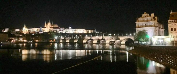 A night view of Prague