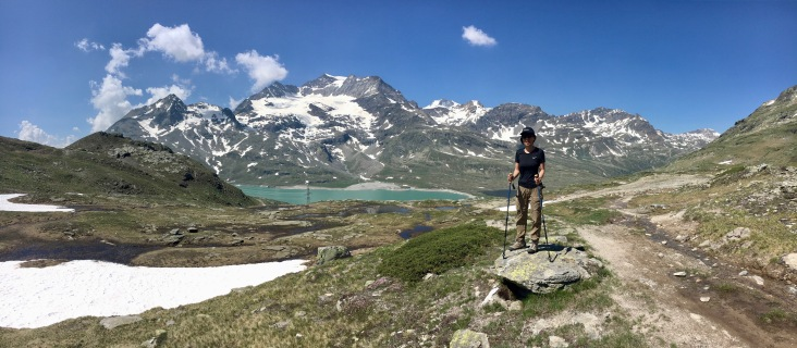 At the backdrop of Lago Blanco