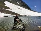 Philippe climbing mini Matterhorn