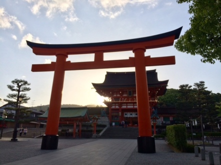 Fushimi Inari Gate in the morning sun