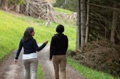 Walking with Caroline