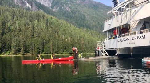 Kayak launching platform