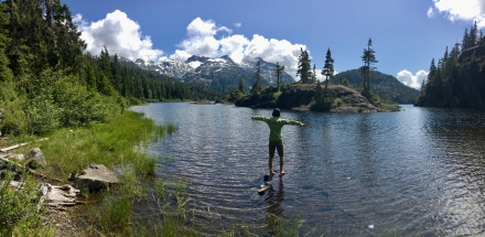 The water was warm at Bedwell Lake
