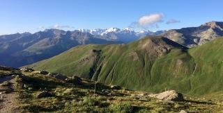A fabulous view of Mt. Bernina, Mt. Roseg etc. from the hut