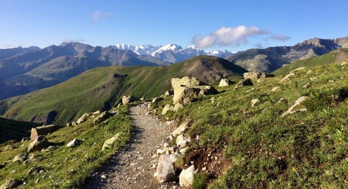 Walking toward Mt. Bernina!