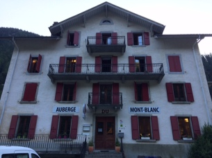 The hotel I stayed this time: Auberge Mont Blanc.