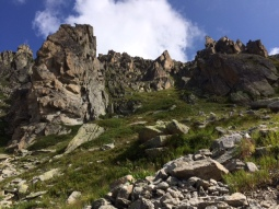 Imposing rocky peaks