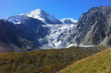 Dramatic glacier