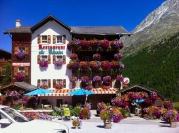 Arolla's restaurants and hotels are cheerfully decorated with flowers
