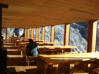 Cabane de Moiry's dining room