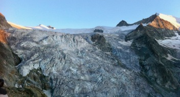 Imposing Moiry Glacier in the evening