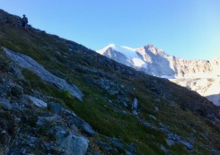 Coming down from Cabane de Moiry