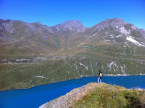 Looking down Lac de Moiry