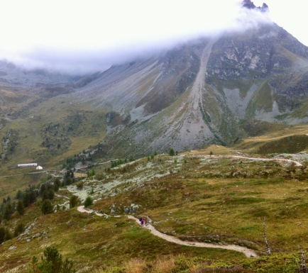 Hotel Weisshorn. By the time I got there, I was completely wet from head to toe!