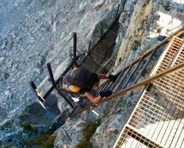 Climbing the Pas de Chèvres ladders!