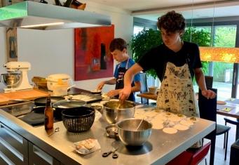 Gyoza making