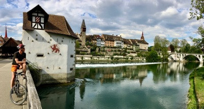 A view of Bremgarten with the River Reuss