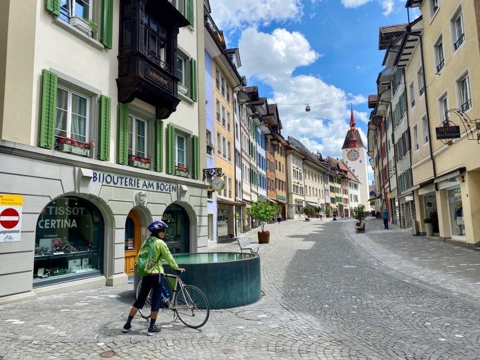 Bremgarten's historical main street