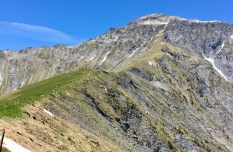 Behind where I stand, there is a unfriendly-looking alpin path to Gsür 2708m.