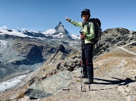 Pointing at Matterhorn