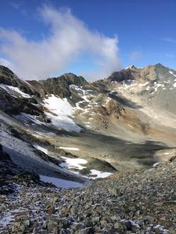 Climbing the rocky path